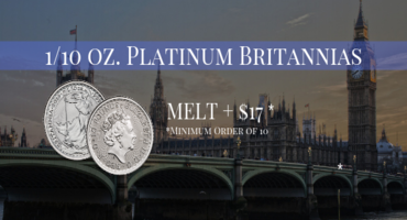 Take Advantage of the Lowest Platinum Prices in Over 10 Years!