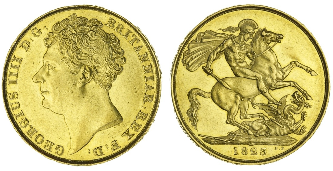 George IV 1823 Gold Two Pounds