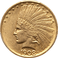 $10 Indian Gold Eagle Obverse