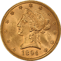 $10 Liberty Gold Eagle Obverse