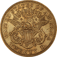 $20 Liberty Gold Double Eagle Reverse