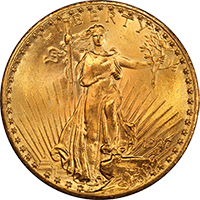 $20 Saint-Gaudens Gold Double Eagle Obverse