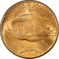 $20 Saint-Gaudens Gold Double Eagle Reverse