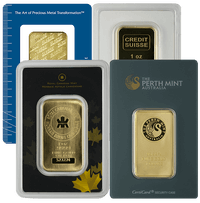 1oz Gold Bars F