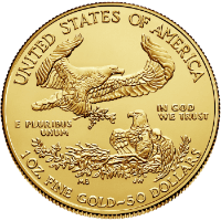 1 oz Gold Eagle Reverse