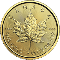 Quarter oz Gold Maple 2017 Obverse