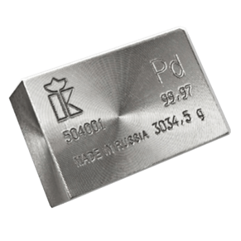 100 oz Palladium Bar