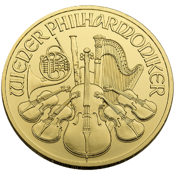 Fourth oz Gold Austrian Philharmonic Obverse