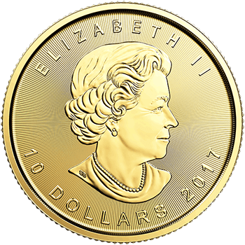 Fourth oz Gold Canadian Maple Reverse