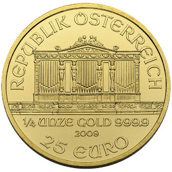 Fourth oz Gold Austrian Philharmonic Reverse