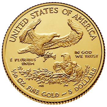 Tenth oz Gold American Eagle Reverse