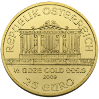 Quarter oz Gold Philharmonic Reverse