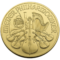 Quarter oz Gold Philharmonic Obverse