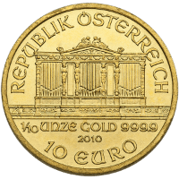 Tenth oz Gold Philharmonic Reverse