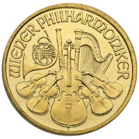 Tenth oz Gold Philharmonic Obverse