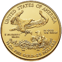Half oz Gold Eagle Reverse