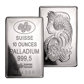 10 oz PAMP Suisse Palladium Bar