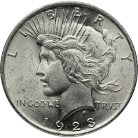 Silver Peace Dollar Obverse