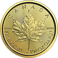 Tenth oz Gold Maple 2017 Obverse