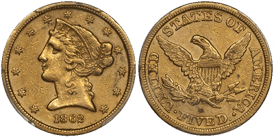 May17 1862 AU50 F