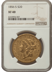 Type 1 $20 Liberty Double Eagle Obverse