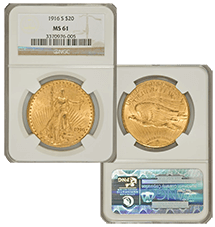 1916-S Saint-Gaudens Double Eagles