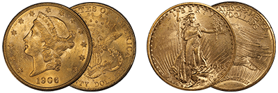 1906-S/1916-S Gold Double Eagles