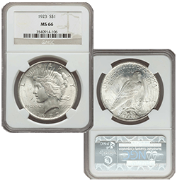 1923 MS66 Silver Peace Dollar