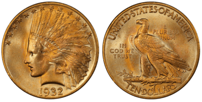 MS65 $10 Indian Double Eagle