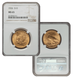 1926 MS65 $10 Indian Double Eagle