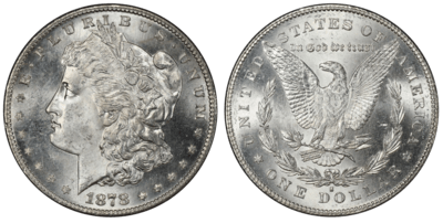 1878 MS63 Morgan Silver Dollar