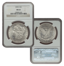 1878 MS63 Morgan Silver Dollar Slabbed