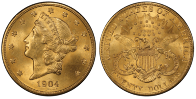 1904 MS65 Gem Uncirculated $20 Liberty Double Eagle
